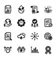 set science icons such as checked calculation vector image vector image