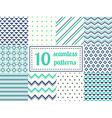 set ten seamless patterns vector image vector image