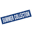 square grunge blue summer collection stamp vector image vector image