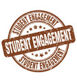 student engagement brown grunge stamp vector image vector image