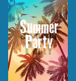 summer beach beach party invitation vector image