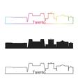 Tarento skyline linear style with rainbow vector image vector image