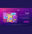 tour navigator concept landing page vector image vector image