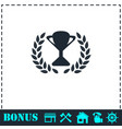 trophy icon flat vector image vector image