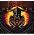 viking esport mascot logo design vector image vector image