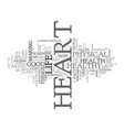 what s good for the heart text word cloud concept vector image vector image