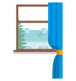 window inside with view on neighbors house vector image