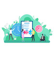 workers cooperation target or goal work vector image vector image