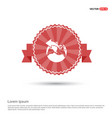 world globe icon - red ribbon banner vector image