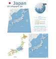 Japan maps with markers vector image