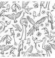 black and white sketch set drawn by hand vector image