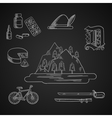 German culture and history icons vector image