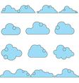 0810 cloud icon set vector image vector image