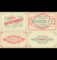 4 old labels for packing vector image vector image