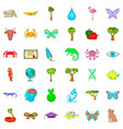 animal icons set cartoon style vector image vector image