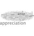 appreciate to motivate vector image vector image