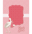 bagirl arrival card vector image vector image