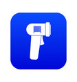 barcode scanner icon digital blue vector image vector image