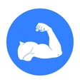 Biceps icon in black style isolated on white vector image vector image