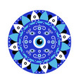 blue mandala evil eye greek amulet against evil vector image vector image