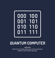calculation quantum computer analysis and data vector image vector image