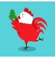Cartoon chinese zodiac fire rooster vector image vector image