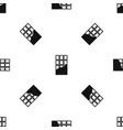 chocolate bar pattern seamless black vector image vector image
