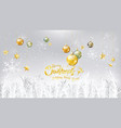 christmas and new year typography on white vector image vector image