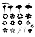 cute flower icon on white background vector image vector image