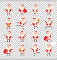 cute santa claus paper sticker icon set vector image vector image