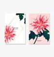 Dahlia daisy sunflower romantic floral template
