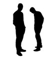 disagree between two friends silhouette vector image