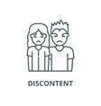 discontent line icon linear concept vector image vector image