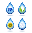 Drops of water content vector image vector image