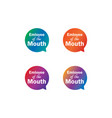 emloyee month label tag bubble set vector image vector image