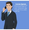 European success businessman concept vector image