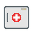 first aid kit box flat object vector image