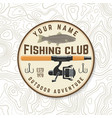 fishing club patch concept for shirt or vector image