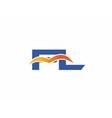 FL initial company logo vector image vector image