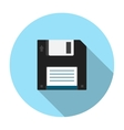 Floppy disk flat icon vector image