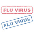 flu virus textile stamps vector image vector image