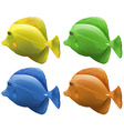 Four different colors of fish vector image vector image