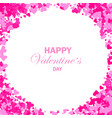 frame with hearts for greeting cards vector image