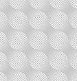 Gray ornament diagonal bulging waves vector image