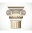 Greek Column isolated on white background vector image