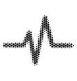 halftone dot pulse icon vector image vector image