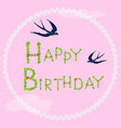 happy birthday greeting card decorative letters vector image