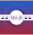 happy diwali greeting banner design template vector image vector image