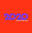 happy new year 2020 logo with purple numbers vector image vector image
