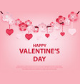 happy valentines day object background vector image
